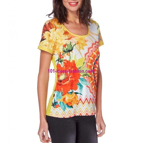 tshirt top print summer brand 101 idées Design 558AMVRA shop europe