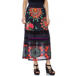 Maxiskirt print ethnic 101 idees 1612Y boutique clothing