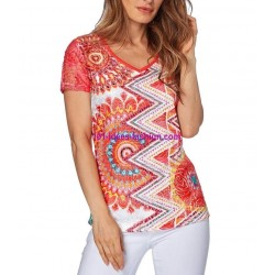 buy top t-shirt lace summer brand 101 idées Design 295VRA online