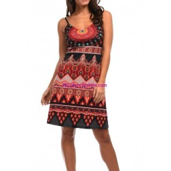buy dress summer ethnic chic 101 idées 652VRA online