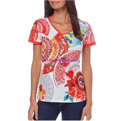 tshirt top print ethnic summer brand 101 idées Design 563BVRA indian