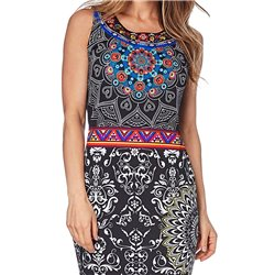 dress tunic print summer 101 idées B105Y indian clothes online