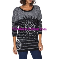 Pullover Soft-Touch print bunt 101 idées 6180W Neue Winter Kollektion