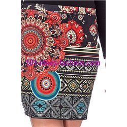 Mini skirt suede print ethnic 101 idées 3129W paris french