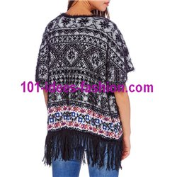 jacket soft touch fringes ethnic 101 idées 6196W desigual style