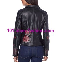 acquisti online giacca ecopelle perfecto etnica marca 101 IDEES 1902W
