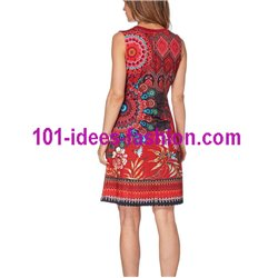 dress tunic ethnic floral print summer 101 idées 653VRA Spring Summer