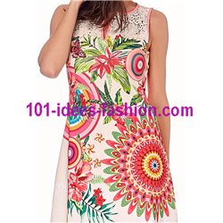 dress tunic ethnic floral print summer 101 idées 641Y Spring Summer