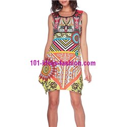 dress tunic ethnic print summer 101 idées 401Y clothes for women