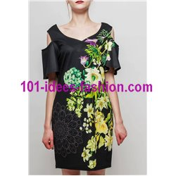 dress tunic ethnic floral print summer 101 idées 2333Y Spring Summer
