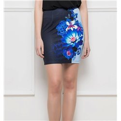 Mini skirt print floral 101 idées 3002Y womens clothes sale