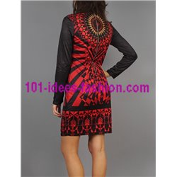 boho chic dress tunic suede 101 idées 181W clothes for women