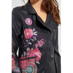 giacca ecopelle perfecto etnica marca 101 IDEES 1950W desigual
