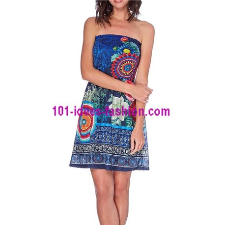 boho chic dress summer ethnic chic 101 idées 1624Y clothes for women