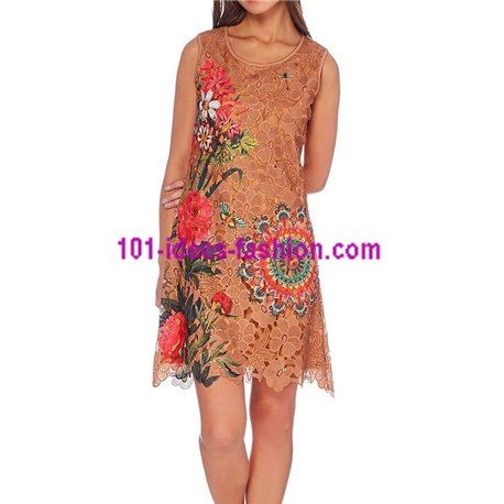 boho chic dress tunic lace summer 101 idées 1123WVRA clothes for women