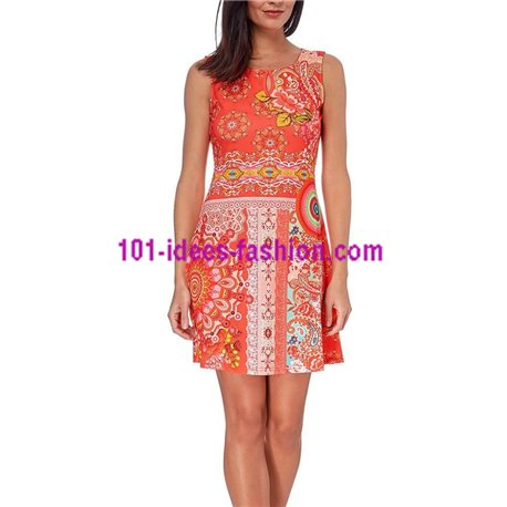 boho chic dress tunic ethnic print summer 101 idées 214Y clothes for