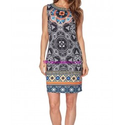 boho chic dress tunic ethnic print summer 101 idées 102P clothes for