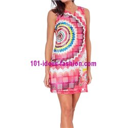 boho chic dress tunic lace summer ethnic floral 101 idées 1503P