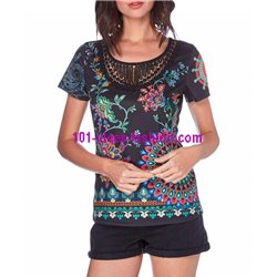 boho chic top lace ethnic summer brand 101 idées Design 439Y clothes
