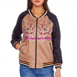 buy now bomber jacket suede print 101 idées 349BOM clothes for women