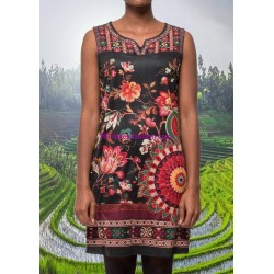 buy now dress tunic suede ethnic floral 101 idées 382Y clothes for