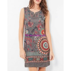dress tunic suede ethnic floral 101 idées 380P