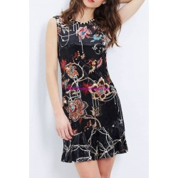 buy now dress tunic velvet floral winter 101 idées 2029Z clothes for