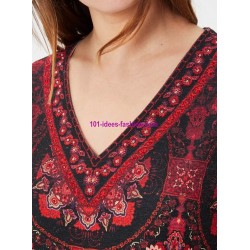 buy now dress ethnic tribal winter 101 idées 5912Z clothes for women