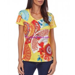 buy now tshirt top print summer brand 101 idées Design 563AMVRA
