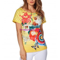 buy now tshirt top print summer brand 101 idées Design 560AMVRA