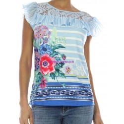 buy now T-shirt top lace summer floral ethnic 101 idées 491P clothes