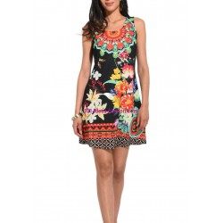 buy now dress tunic lace summer ethnic floral 101 idées 642P clothes