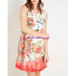 buy now dress tunic lace summer ethnic floral 101 idées 1510K clothes