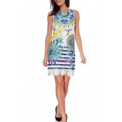 buy now dress tunic lace chic print 101 idées 1109K clothes for women