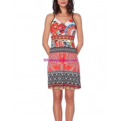 buy now dress tunic ethnic floral print summer 101 idées 376K clothes