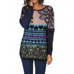 Sweater soft touch print 101 idées 6198W spanish style