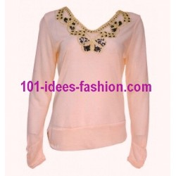 t-shirts tops blouses winter brand 101 idees 1671R spanish style