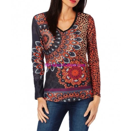 T-shirt top leopard winter 101 idées 242IN spanish style