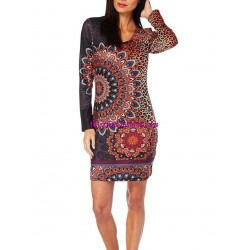 dress tunic leopard winter 101 idées 318IN french fashion