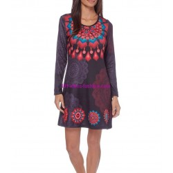 dress tunic print mid season 101 idées 405V