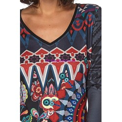 oberteile top t-shirt winter 101 idées 009W LARGE look desigual online