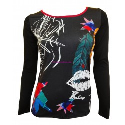 t-shirts tops blouses winter brand 101 idees 8407 spanish style
