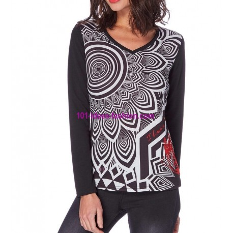 t-shirts tops blouses mid season brand 101 idees 264IN spanish style
