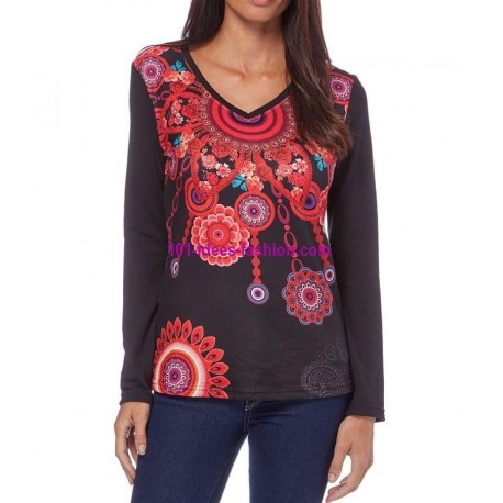tshirt top inverno 101 idées 075IN oferta roupas