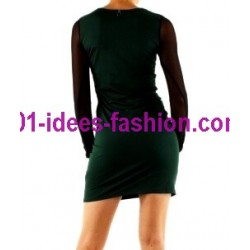shop dresses tunics winter brand 101 idees 9004VRD outlet