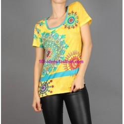camiseta top verano marca 101 idees 285amvra